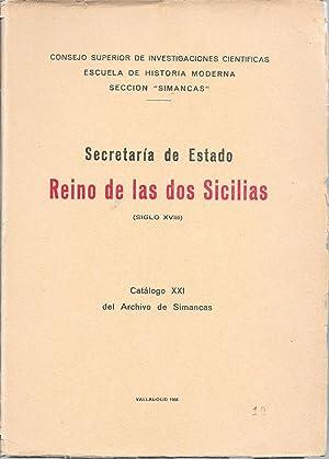 Secretaria del Estado Reino de las dos Sicilias, Siglo XVIII: Ricardo Magdaleno Redondo