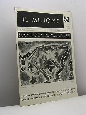 Il Milione. Bollettino della Galleria del Milione,: Prampolini Enrico