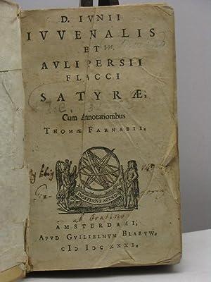 D. Iunii Iuvenalis et Auli Persii Flacci: Iuvenalis - Flaccus