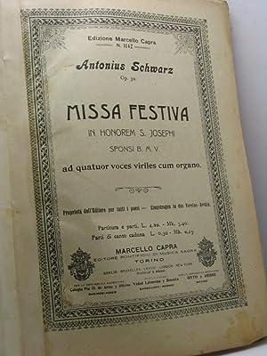 Missa festiva in honorem S. Josephi Sponsi: Schwarz Antonius