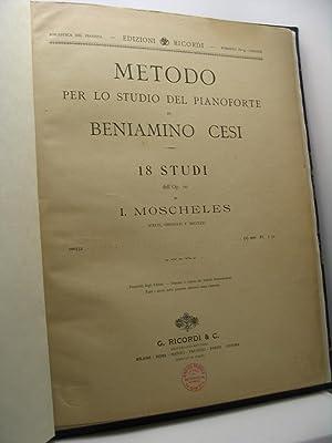Metodo per lo studio del pianoforte di: Cesi Beniamino