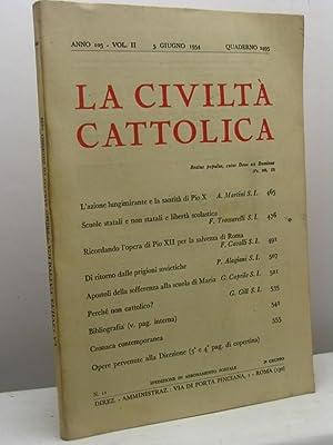 La civiltà cattolica, anno 105, volume II,: AA.VV.