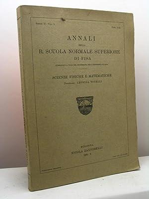 Annali della R. Scuola Normale Superiore di Pisa pubblicati a cura dei professori dell'...