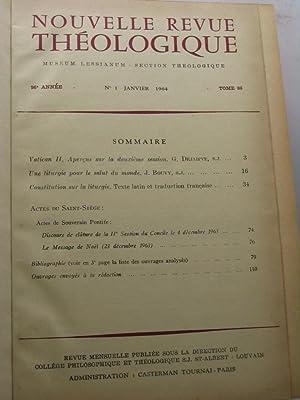 Nouvelle Revue Théologique, 96 annee, tome LXXXVI, nn. 1-11, janvier-decembre 1964: AA.VV.