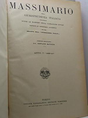 Massimario della Giurisprudenza italiana contenente tutte le: AA.VV.