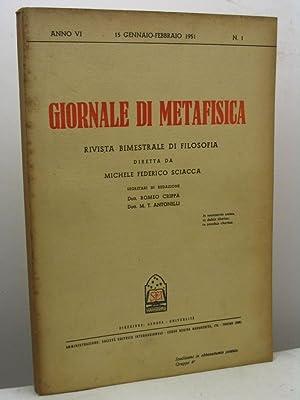 Giornale di metafisica. Rivista bimestrale di filosofia,: AA.VV.