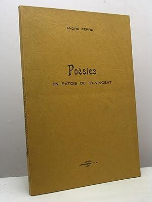 Poésies en patois de St-Vincent: Ferré André