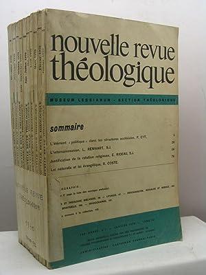 Nouvelle Revue Théologique, 102 annee, tome 92, n. 1-10, janvier-decembre 1970: AA.VV.
