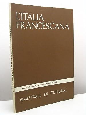 L'Italia Francescana. Bimestrale di cultura, anno 56,: AA.VV.