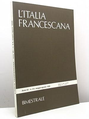 L'Italia Francescana. Bimestrale, anno 65, n. 3-4,: AA.VV.