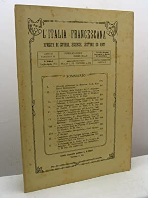 L'Italia Francescana. Rivista di storia, scienze, lettere: AA.VV.