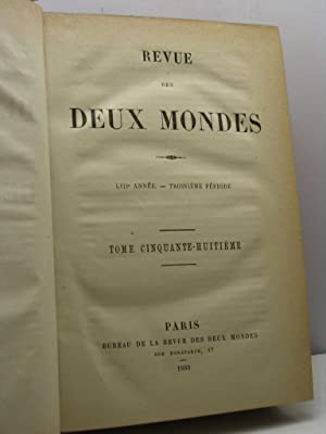 Revue des Deux Mondes, année LIII, troisième période, tome cinquante-huiti&...