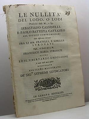 Le nullità del Lodo, o Lodi Proferiti: Pantaleo Viale Giuseppe