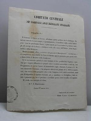 Comitato Centrale pe' soccorsi agli emigrati italiani: Cameroni Carlo