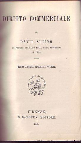Diritto commerciale: Supino David