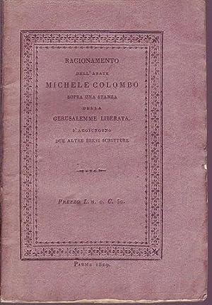 Ragionamento dell'abate Michele Colombo sopra una stanza della Gerusalemme Liberata s'...