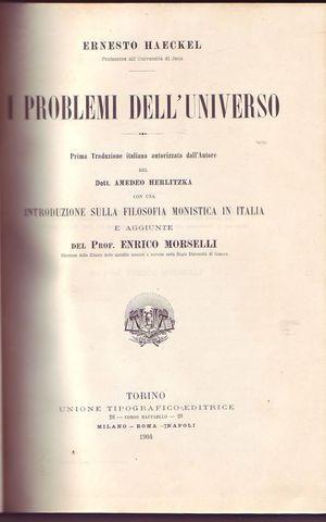 I problemi dell'universo prima traduzione italiana autorizzata dall'autore del dottor ...
