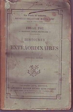 Histoires extraordinaires traduction de Charles Baudelaire nouvelle édition: Poe Edgar Allan...