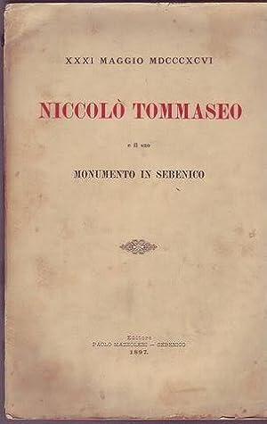 Niccolo Tommaseo e il suo monumento in Sebenico XXXI maggio 1896: Tommaseo Niccolò