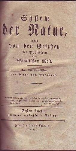 System der Natur, oder von den Gesetzen der Physischen und Moralischen Welt: Mirabaud (pseudonimo ...