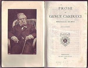 Prose di Giosue Carducci MDCCCLIX-MCMIII: Carducci Giosue