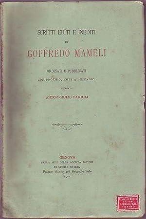 Scritti editi e inediti di Goffredo Mameli: Mameli Goffredo