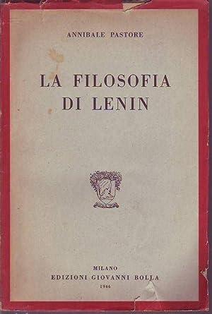 La filosofia di Lenin: Pastore Annibale