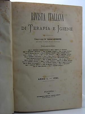 Rivista italiana di Terapia e Igiene, anno I e II (1881-1882)