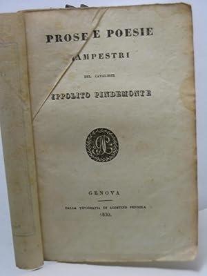 Prose e poesie campestri del cavaliere Ippolito Pindemonte: Pindemonte Ippolito