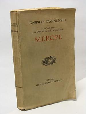 Merope - Laudi del cielo del mare: d'Annunzio Gabriele
