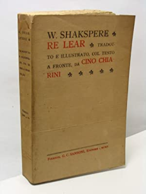 Re Lear: Shakspere W. [Shakespeare]