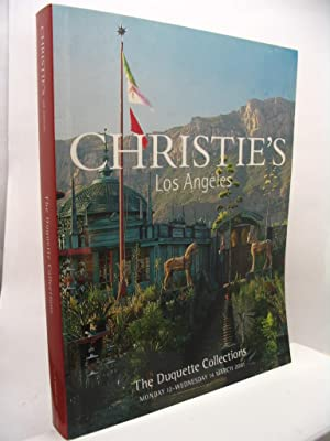 The Duquette Collections - Christie's Los Angeles Monday 12-Wednesday 14 march 2001