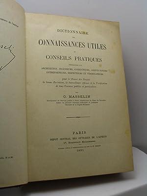 Dictionnaire des connaissances utiles et conseils for Dictionnaire des architectes