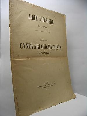 Professore Canevari Gio. Battista pittore - Album biografico di Roma
