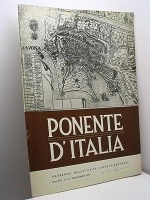 Ponente d'Italia. Rassegna dell'attività Ligure-Piemontese, anno XXII,: AA.VV.