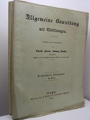 Allgemeine Bauzeitung, 1851, nn. I-XII: AA.VV.
