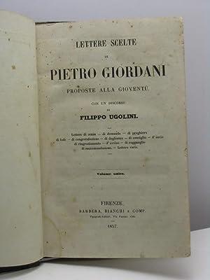 Lettere scelte di Pietro Giordani proposte alla: Giordani Pietro