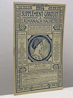 Supplement gratuit a l'Almanach Hachette 1914