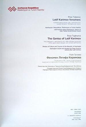 The genius of Latif Kerimov = Latif: TAGHIYEVA, ROYA