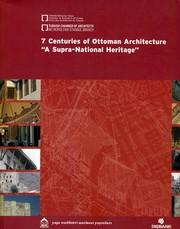 7. Centuries of Ottoman Architecture. A Supra-National: AKIN, NUR -