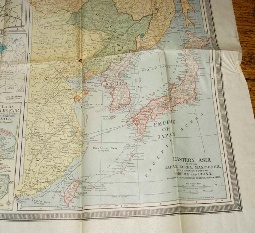 Large color folding map of indiana 1904 by scarborough company large color folding map of indiana 1904 scarborough company gumiabroncs Image collections