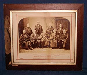 OVERSIZE PHOTOGRAPH: GROUP PORTRAIT OF SUPREME COURT JUSTICES, 1882: BELL, C. M.