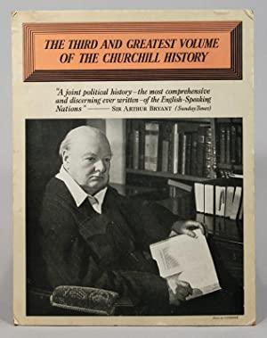 POSTER ADVERTISING VOLUME THREE OF A HISTORY: CHURCHILL, Winston