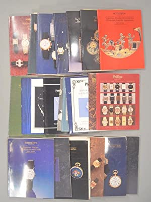 LOT OF 20+ AUCTION CATALOGUES FROM SOTHEBY'S and PHILLIPS: TIMEPIECES