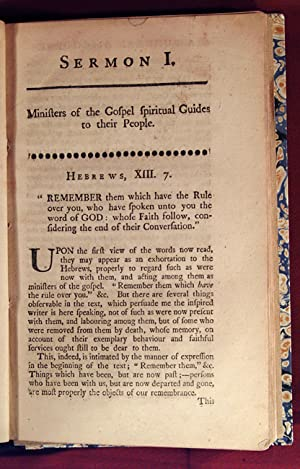 COLLECTION OF FIVE SERMONS, INCLUDING A DIRGE AND A MONODY: SERMONS, AMERICAN - 18TH cENTURY