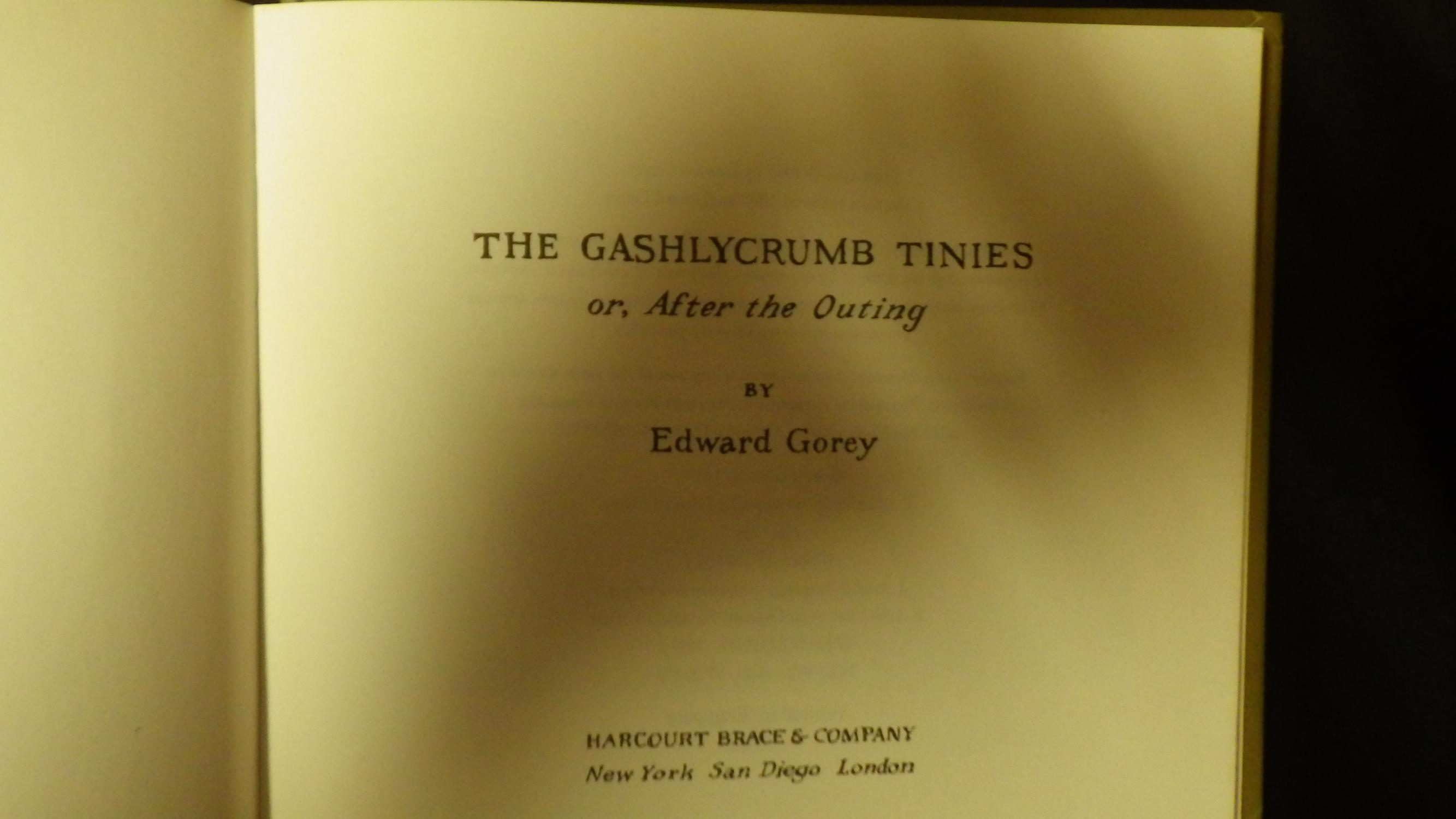 Edward gorey gashlycrumb tinies online dating