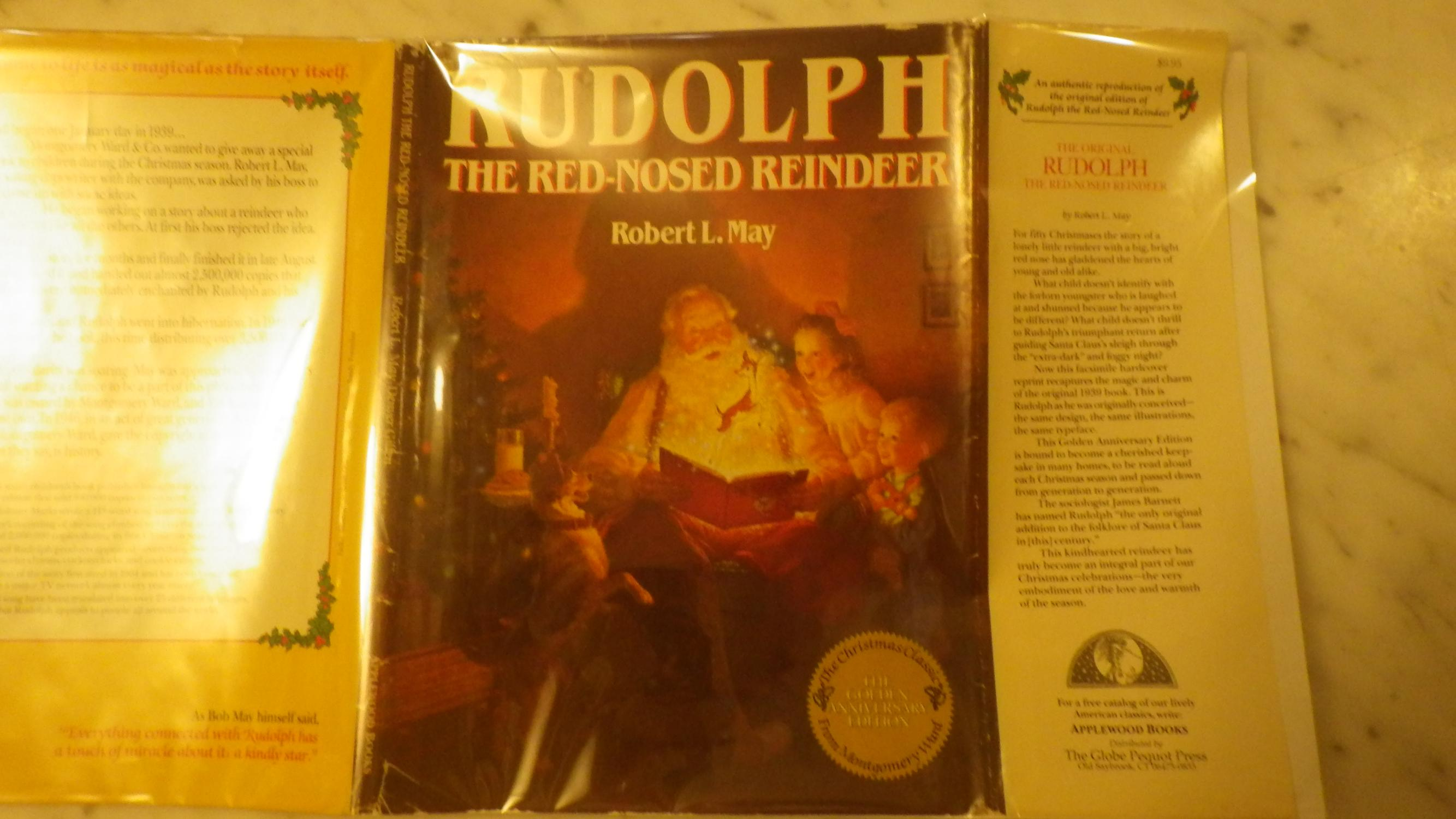 Rudolph the Red-Nosed Reindeer FACSIMILE of 1st Edition of 1939 with same Design, Illustrations & Typeface , GOLDEN Anniversary Edition, Robert L. Le