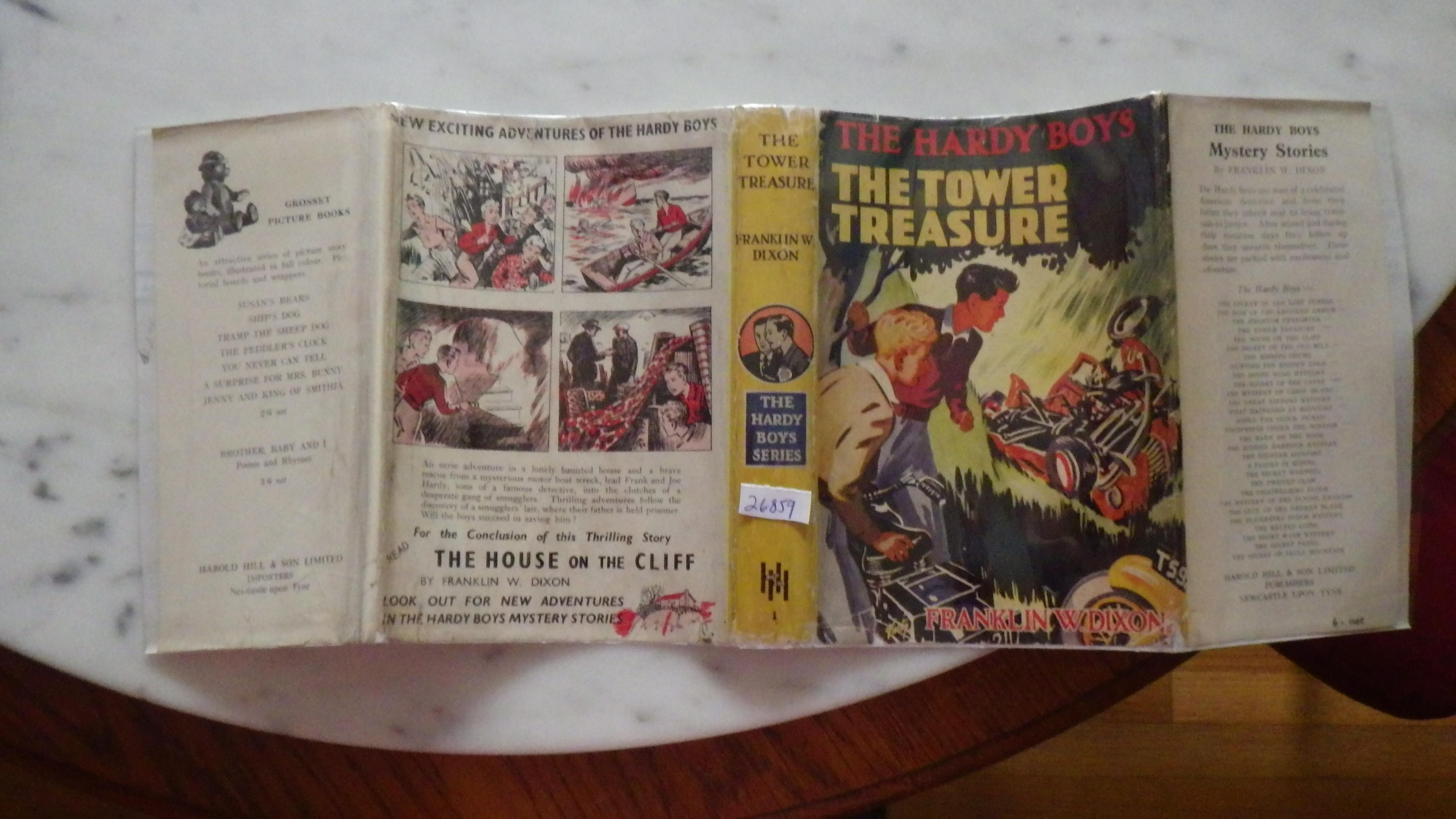 Hardy Boys Tower Treasure, Series#1 ,1951
