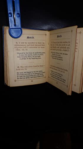 Our Daily Bread; Or, Portions For The Lord's Household. MINIATURE BOOK, Inside Text printed in...