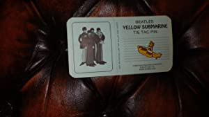 Original 1968 Beatles Yellow Submarine Tie Tac Pin ( In Yellow Gold & White ) from the Movie, ...